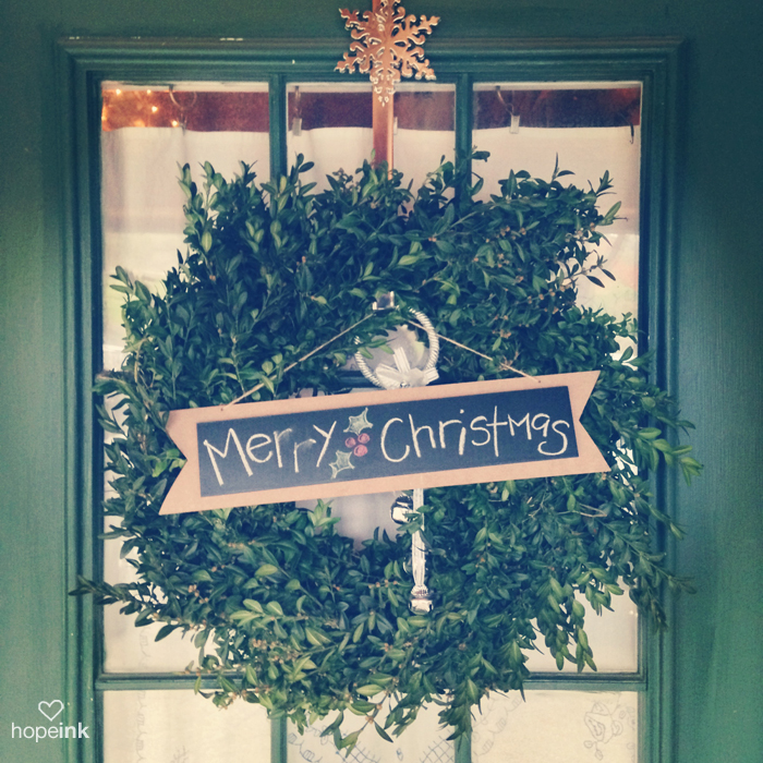 Merry Christmas Door Wreath